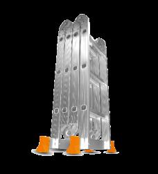 Escalera Plegable Aluminio 3X4 3.70m